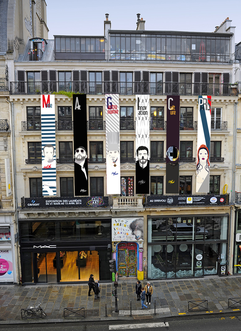 Facade du 59 rue de Rivoli Canson Prix Art School 2014
